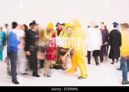 Mitarbeiter unterwegs - Stockfoto