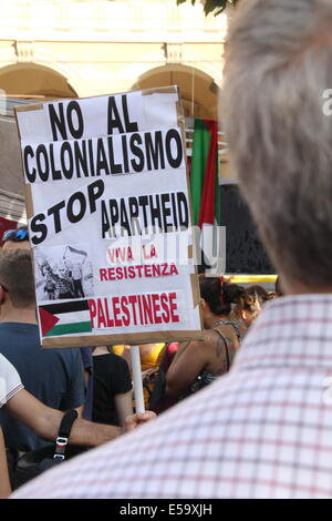 Rom, 24. Juli 2014 Pro Palästina rally in Esquilino Viertel von Rom, Italien: Gari Wyn Williams/Alamy Live News - Stockfoto