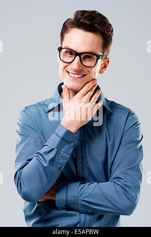 Gut aussehender Mann Debica, Polen - Stockfoto