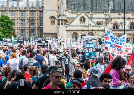 """London, UK. 26. Juli 2014. Das """"Massaker"""" in Gaza Protest zu stoppen. Eine Demonstration von genannt: stoppen Sie - Stockfoto"""