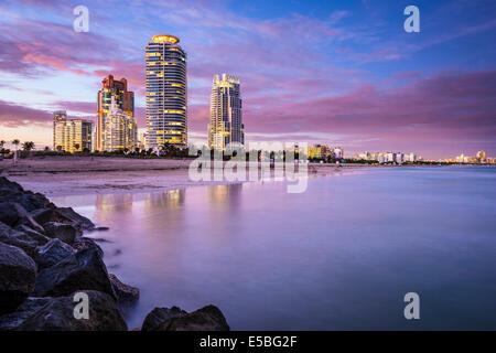 Miami, Florida, USA am Südstrand.