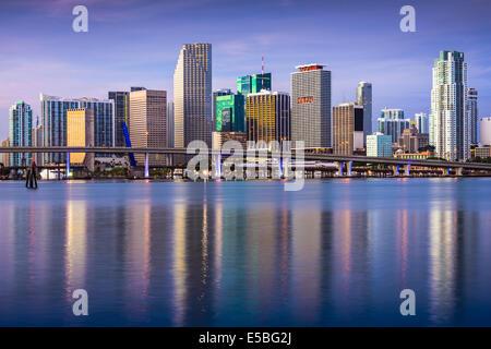 Skyline von downtown Miami, Florida, USA. - Stockfoto
