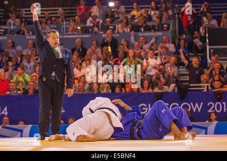 Glasgow, Schottland. 26. Juli 2014. Commonwealth-Spiele 2014. Judo-Medaille Wettbewerbe Männer u100k Kilo gold Medaille - Stockfoto