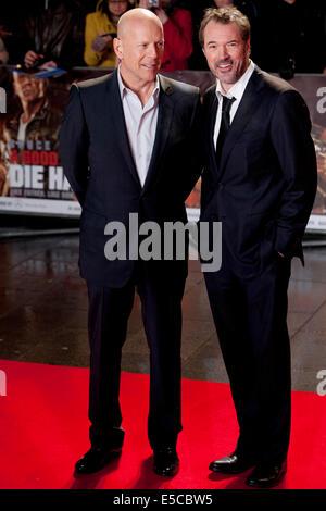 Bruce Willis Film Premiere Stirb langsam - Stockfoto