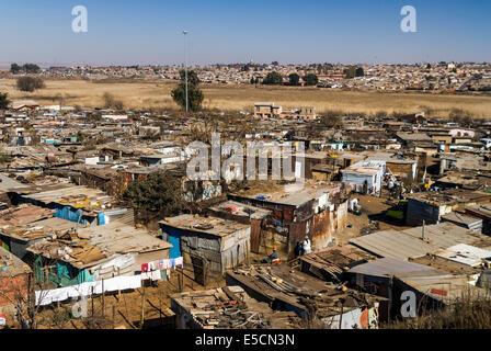 Blechhütten, Township Kliptown, Soweto, Johannesburg, Gauteng, Südafrika - Stockfoto