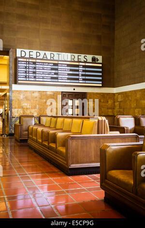 Die restaurierten Art-Deco-Interieur der Union Station in Los Angeles, Kalifornien, USA - Stockfoto
