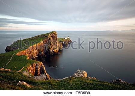 Landschaftlich-Point-Leuchtturm auf der Isle Of Skye - Stockfoto