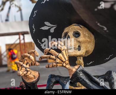 Toten Mariachi, Dia de Los Muertos, Tag der Toten in Mexiko - Stockfoto