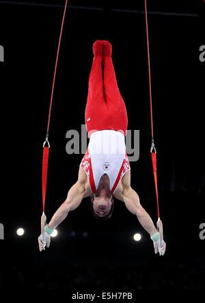 Glasgow, Schottland. 31. Juli 2014. Kevin Lytwyn Kanadas konkurriert am 31. Juli 2014 bei den Herren Ringe Finale - Stockfoto