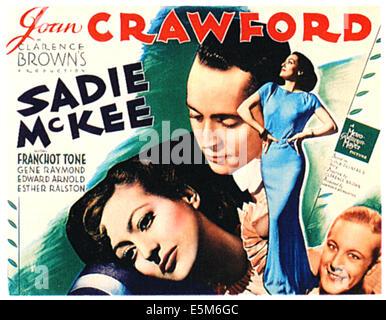 SADIE McKEE, Joan Crawford, Franchot Tone, Gene Raymond, 1934 - Stockfoto