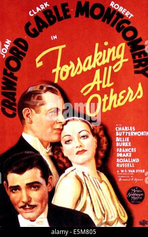 ALLE anderen, Joan Crawford, Clark Gable, Franchot Tone, aufzugeben, 1934 - Stockfoto