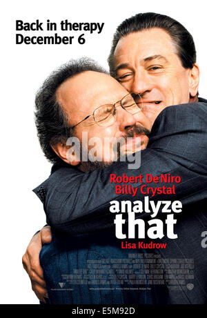 Zu analysieren, Billy Crystal, Robert De Niro, 2002, (c) Warner Brothers/Courtesy Everett Collection - Stockfoto