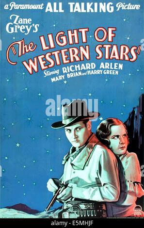 """DEM Licht der westlichen STARS (aka """"WINNING THE WEST"""", Neuauflage Titel); rechts unten, von links: Richard Arlen, - Stockfoto"""
