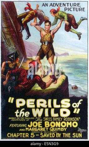 """PERILS OF THE WILD, Mitte: Joe Bonomo in """"Kapitel 5: von der Sonne gespeichert"""", 1925. - Stockfoto"""