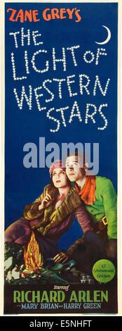 Licht der westlichen STARS, US-Plakat-Kunst, von links: Mary Brian, Richard Arlen, 1930 - Stockfoto