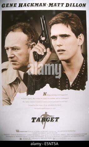 Ziel, US-Plakat, von links: Gene Hackman, Matt Dillon, 1985, © Warner Brothers/Courtesy Everett Collection - Stockfoto