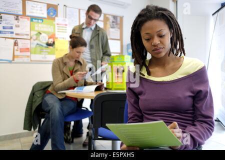 Informations-Raum für junge Menschen. - Stockfoto