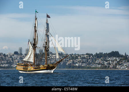 "Großsegler ""Lady Washington"" aus White Rock, British Columbia, Kanada - Stockfoto"