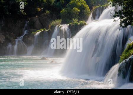 Skradinski Buk Wasserfall im Nationalpark Krka, Kroatien. - Stockfoto
