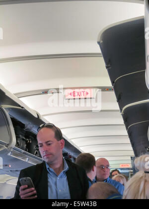 An Bord der kommerziellen Flugzeug Flug - Stockfoto