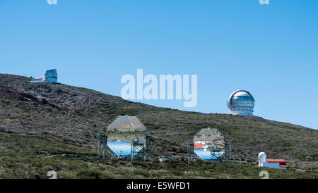 Roque de Los Muchachos Observatorium, ORM, Teil des European Northern Observatory, ENO, Roque de Los Muchachos, - Stockfoto