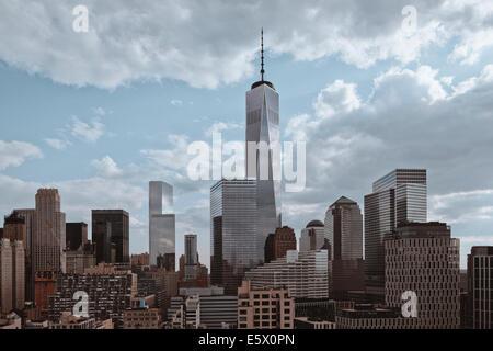 Ansicht des One World Trade Center und Freedom Tower, New York, USA - Stockfoto