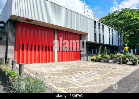 Feuerwache Garage in Nord-London - Stockfoto