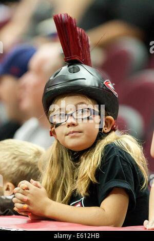 Cleveland, Ohio, USA. 10. August 2014. Cleveland Gladiators-fans ...