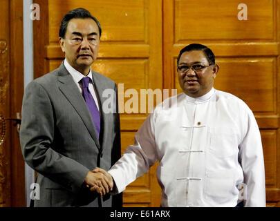 Nay Pyi Taw, Myanmar. 11. März 2016. Führer der Myanmar ...