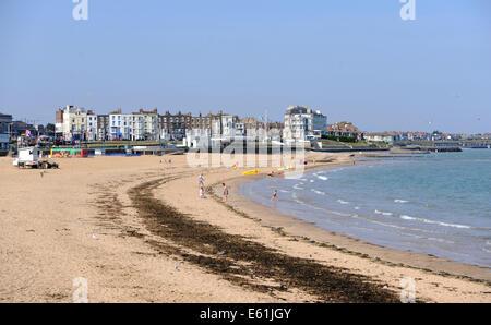Margate Kent UK August 2014 - Margate-Strand und Meer - Stockfoto