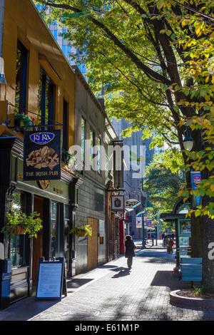 Tryon Nordstraße in uptown Charlotte, North Carolina, USA - Stockfoto