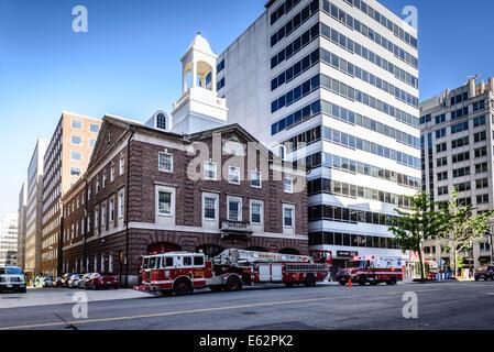 13th Street Firehouse, 1018 13th Street NW, Washington DC Stockfoto