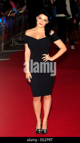 London, UK. 12. August 2014. Lucy Key besuchen die UK Premiere von WHAT IF The Odeon West End London am 12. August - Stockfoto