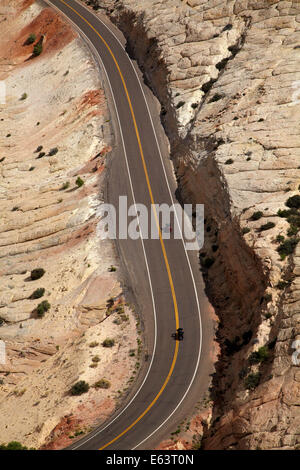 Scenic Byway 12, Grand Staircase-Escalante National Monument, in der Nähe von Escalante, Garfield Land, Utah, USA - Stockfoto