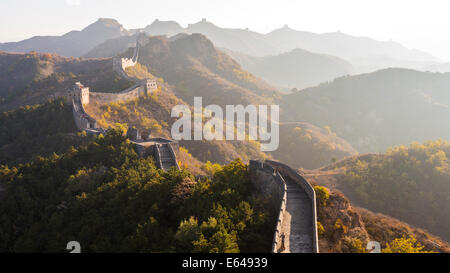 Große Mauer; Jinshanling; Beijing; China Stockfoto