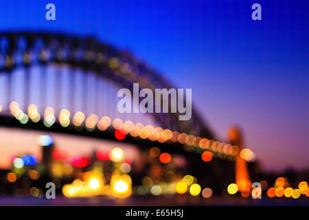 Sydney Harbour Bridge in der Dämmerung. - Stockfoto