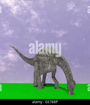 Dinosaurier Ampelosaurus / Dinosaurier Ampelosaurus - Stockfoto