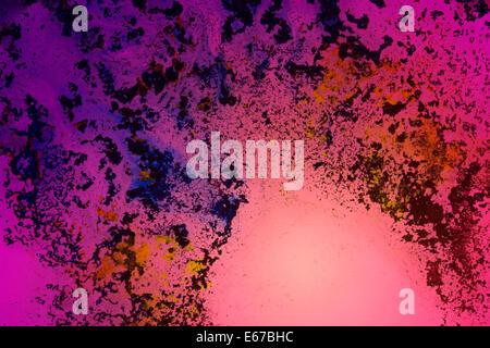 abstrakten bunten sechziger Jahre Hintergrund mit transluzenten Farben über Durchlicht - Stockfoto