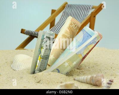 Reisekasse, Urlaubsplanung, Reisekosten - Stockfoto