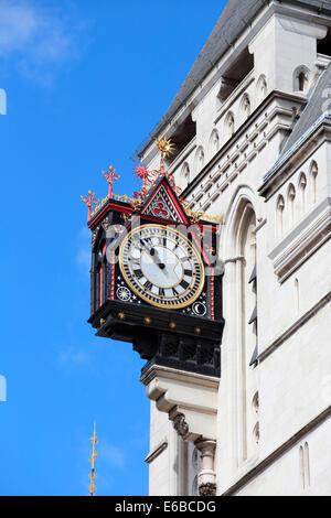 Großbritannien Großbritannien London Royal Courts of Justice Fleet Street - Stockfoto