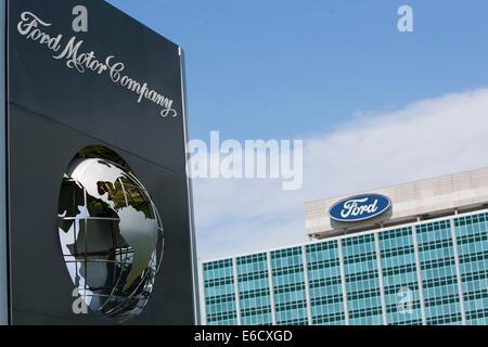 Der Sitz der Ford Motor Company in Dearborn, Michigan. - Stockfoto