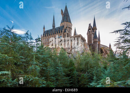 Hogwarts Schloss in die Zauberwelt von Harry Potter bei Universal Studios Islands of Adventure in Orlando, Florida - Stockfoto