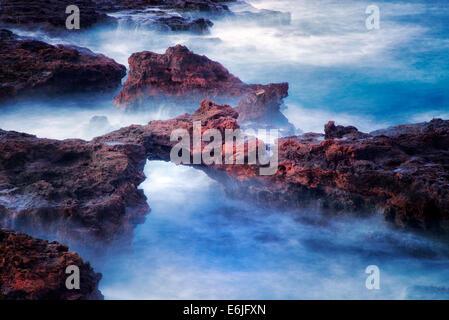 Bogen Sie auf Lanai Küste. Hawaii - Stockfoto
