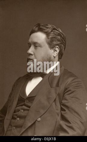 """C.h. (Charles Haddon Spurgeon), renommierte Baptist Minister in London als """"Prinz von Prediger bekannt."""" Porträt - Stockfoto"""