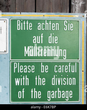 Englisch Vorsichtig