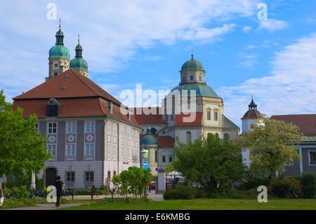 Kempten, Sankt Lorenz Basilica, Benediktiner-Abtei, Allgäu, Allgäu, Bayern, Deutschland - Stockfoto