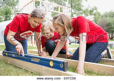 Freiwilligen-Tonwert-tool auf Einbaurahmen - Stockfoto