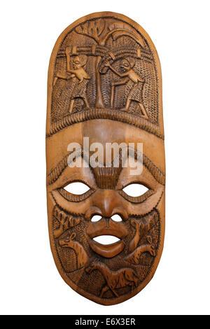 Geschnitzte Maske aus Malawi - Stockfoto