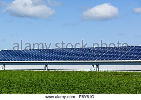 Solarbetriebene Scheune in der Nähe von Peterborough, Ontario Kanada - Stockfoto
