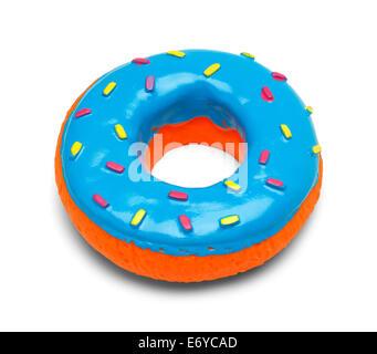 Quietschende blau Donut mit Streuseln, Isolated on White Background. - Stockfoto